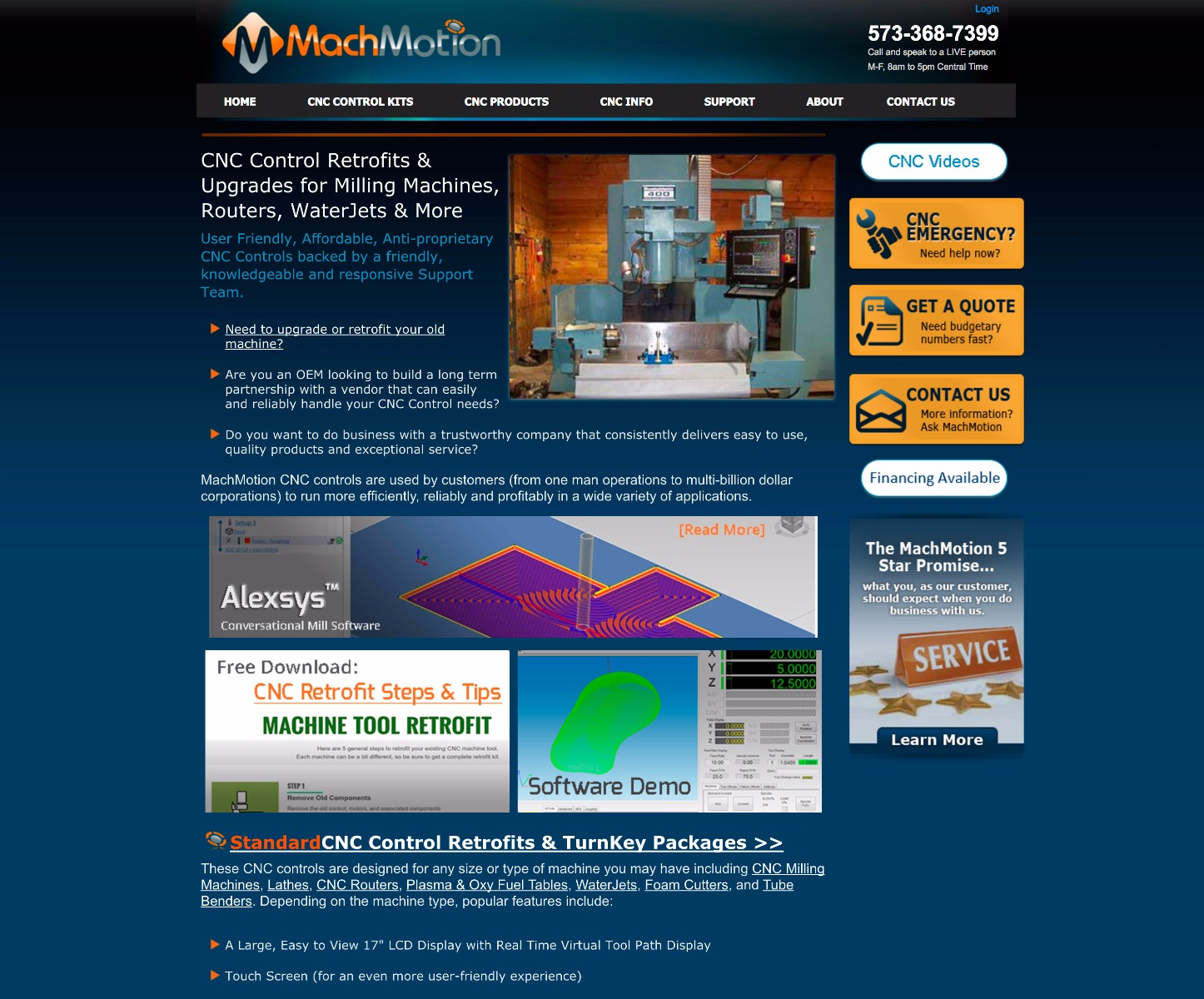 MachMotion.com old website